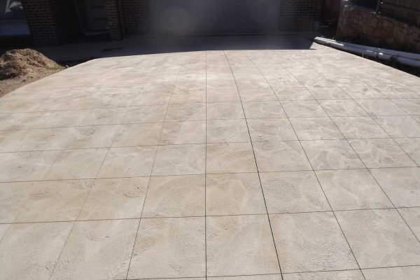 Handcrafted Saw-Cut Concrete Decorative Paving