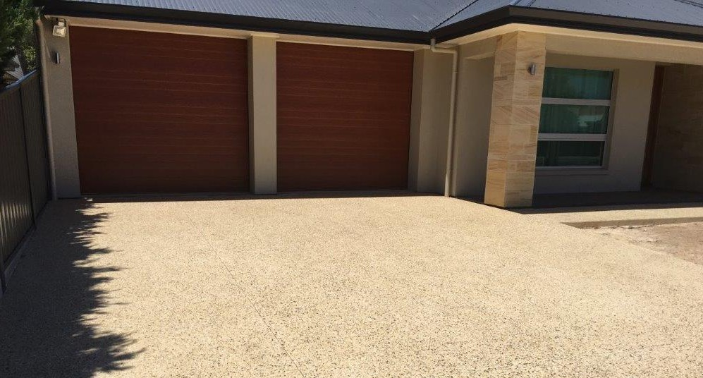 exposed aggregate concrete driveway adelaide